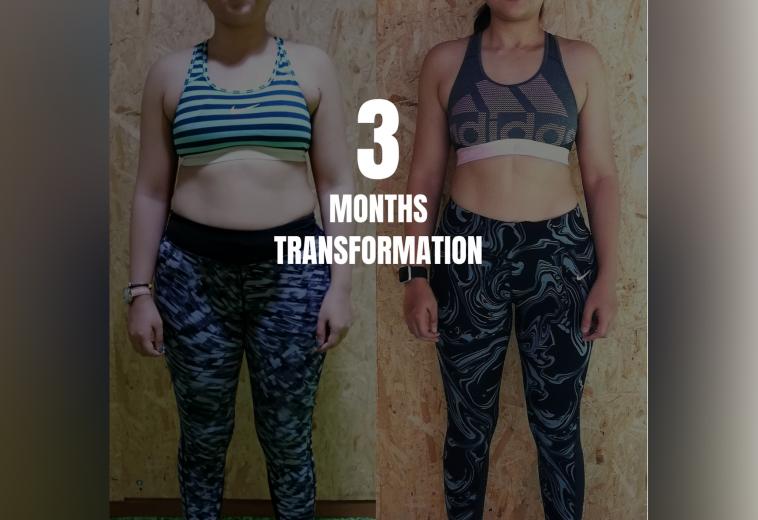 3 months transformation